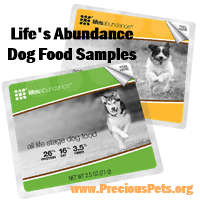 Life's Abundance Dog Food Samples