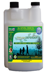 Nature's Defender Cedar Oil Spray for Kennels, Lawns and Pet Treatment 32 oz Concentrate