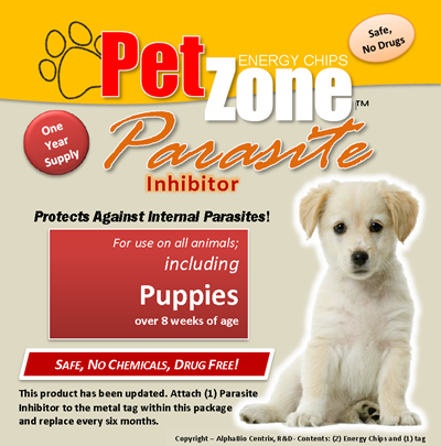 PetZone Parasite Inhibitor Protects Against Internal Parasites in All Puppies and Dogs