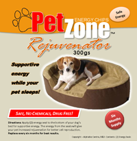 PetZone Rejuvenator Supportive Energy for Dog and Cat Bedding